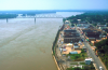 """This photo shows the river town of Cape Girardeau and its downtown strip where many scenes in """"Gone Girl"""" were filmed. Photo courtesy of Tripadvisor."""
