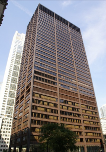 "The Richard J. Daley Center is pictured in the middle of Chicago's Skyline. The building served as the Wayne Enterprises Building in ""The Dark Knight."" Photo courtesy of the International Database for Civil and Structural Engineering."