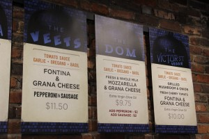 The menu at Melo's Pizzeria features Italian ingredients on a special Neapolitan-style crust.