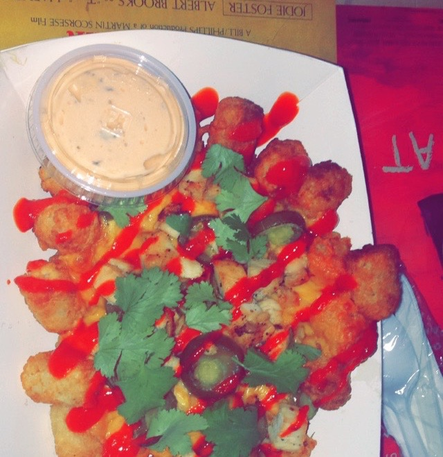 The Srirachos from 13, a savory late night snack.