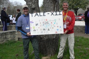 Letterboxers Baby Bear (left) and Silver Eagle hosting the 12th Texas Annual Letterboxing Event.