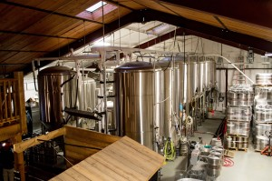 The Civil Life brews all their beers in a room visible from the brewpub. Owner Hafner says he and several of the other principal members developed all the beer recipes together, though none of them had ever worked in a brewery before.