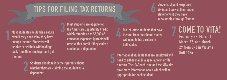 Tips for Filing Tax Returns