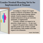 Gender-neutral housing yet to be implemented