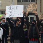 Truman students protest the shooting of Michael Brown
