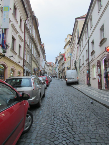 The Old Town of Prague with the original buildings and cobblestone streets.