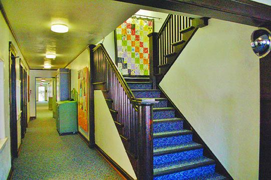 grim hallway