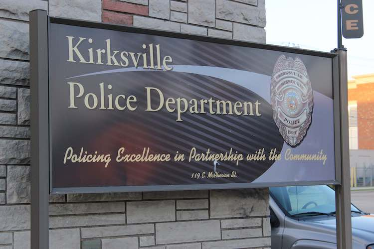 A Kirksville Police Department sign.