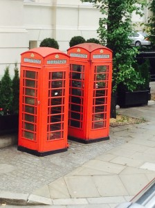Red telephone booths do exist here!