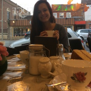 "Having ""proper"" English tea downtown in Ormskirk"