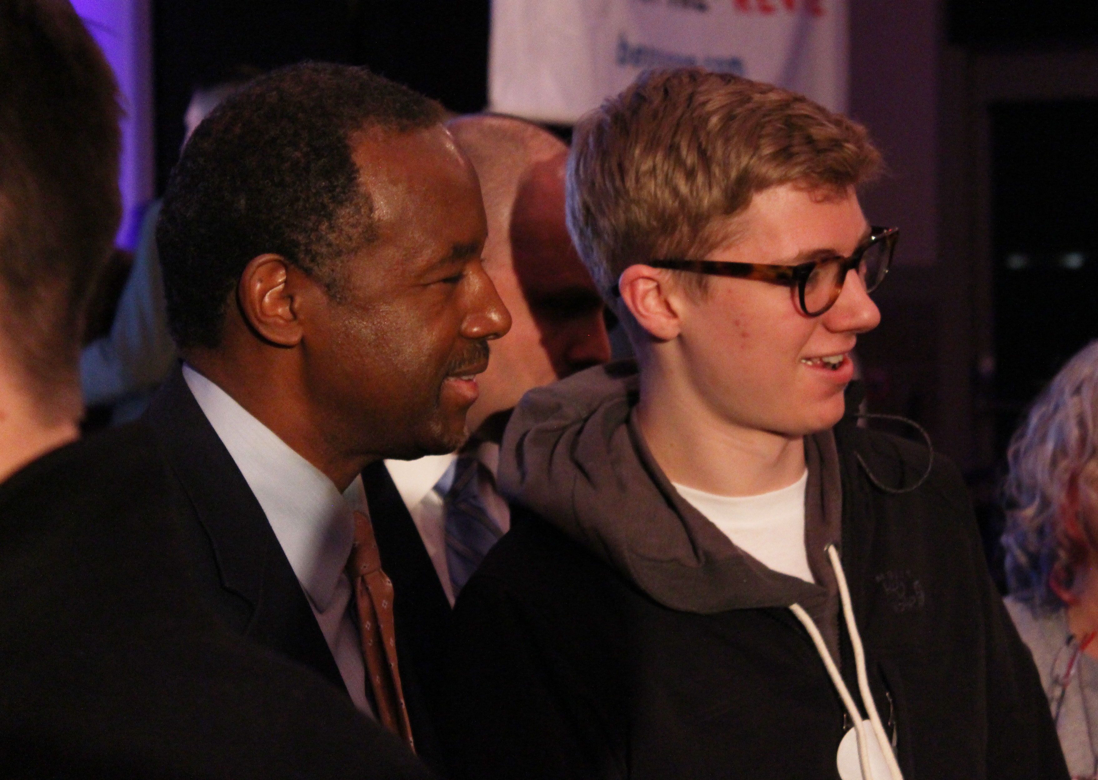 Ben Carson (left) poses for a photo with a young fan. Jonah McKeown/TMN Digital