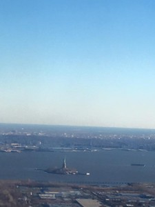 Statue of Liberty from plane