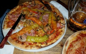 Pedros newPizza with peppers