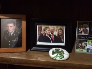 At Lorraine McCleary's funeral, Hillary Clinton's photo was featured prominently alongside photos of her family.