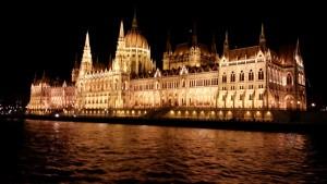 Budapest at night.