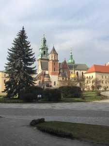 The exterior of Wawel Castle, where we toured.