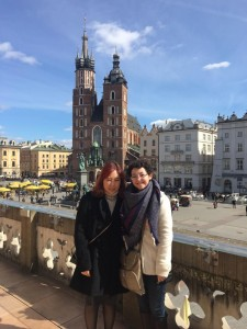Onyoo and I in Krakow.