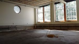 Baldwin Hall classrooms are currently being cleared out so the old infrastructure can be replaced with newer, better working systems which are up to code.