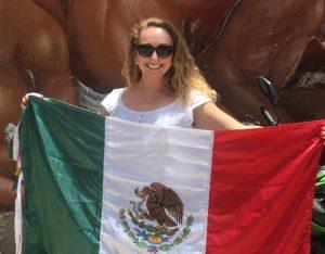 Me holding the flag of México.