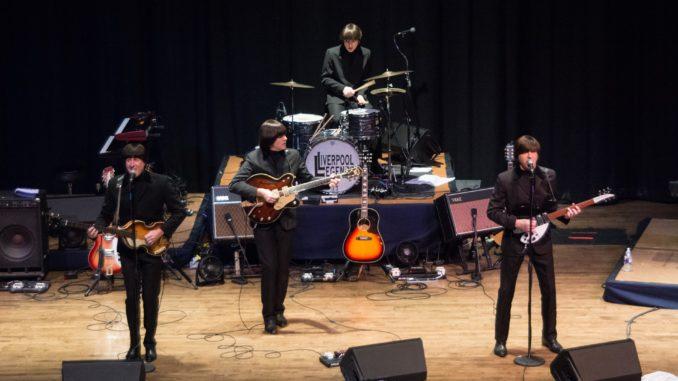 Liverpool Legends performing in Baldwin Auditorium, featuring Truman alumnus Dave Tanner.