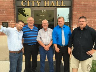The City of Kirksville announced the death of City Council member Richard Detweiler, center, pictured here with his fellow Council Members in 2016.
