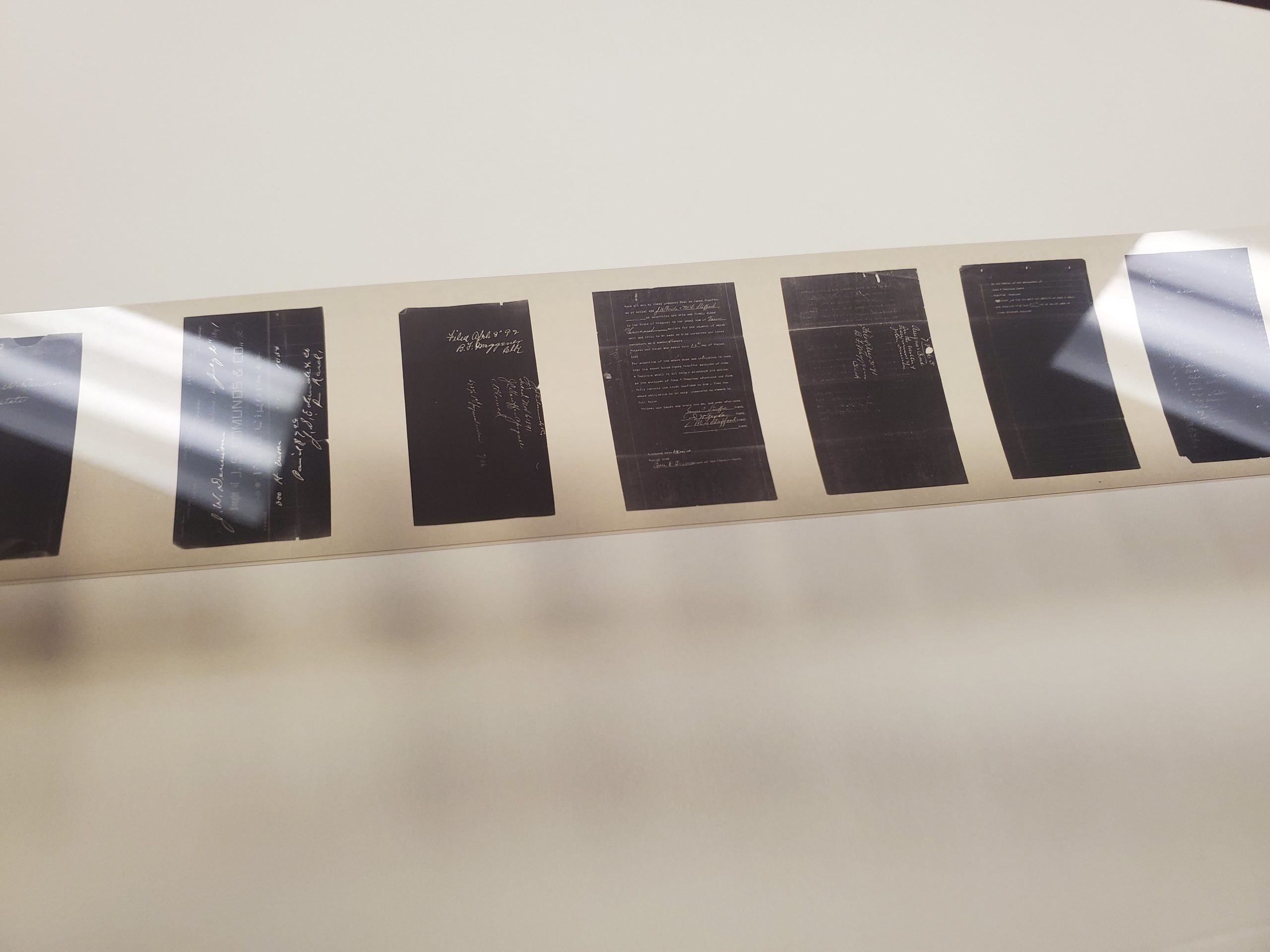 Microfilm of Court docs (after)